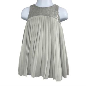 OshKosh Silver Sequined Pleated Dress